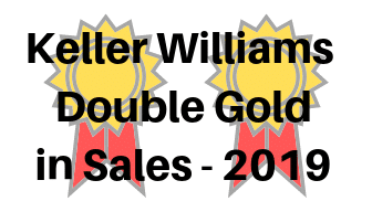 Keller Willams Double Gold Sales Award - 2019