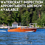 Lake Tahoe watercraft Inspection appointments now available